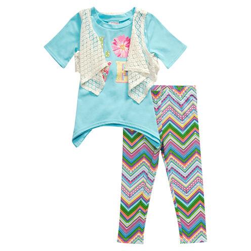 Young Land Legging Set-Toddler Girls
