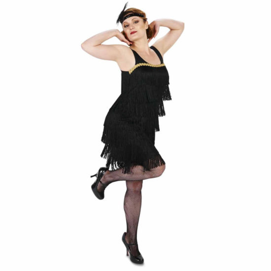 Buyseasons Black Flapper Adult Costume