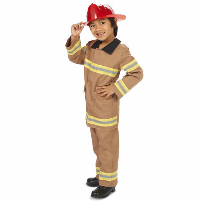 Tan Firefighter with Helmet Child Costume