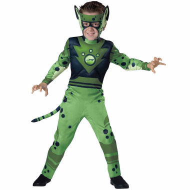 Wild Kratts Quality Green Cheetah Costume For Boys