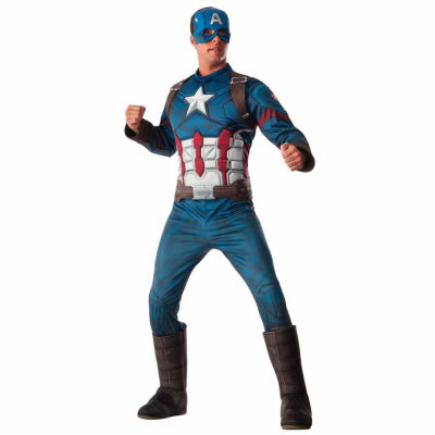 Marvel's Captain America: Civil War Captain America Deluxe Muscle Chest Adult Costume One-Size-Fits-Most