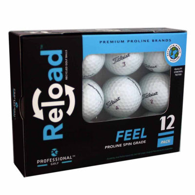Reload 12 Pack of Titleist Recycled Golf Balls.