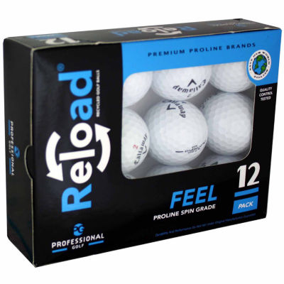 Reload 12 Pack of Callaway Recycled Golf Balls.