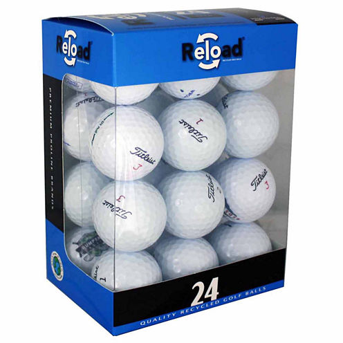 Reload 24 Pack of Titleist Recycled Golf Balls.