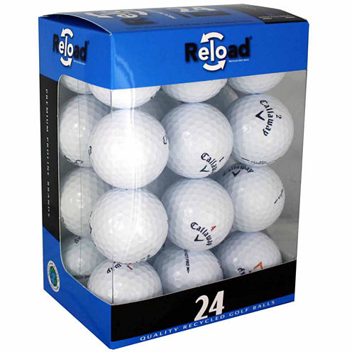 Reload 24 Pack of Callaway Recycled Golf Balls.