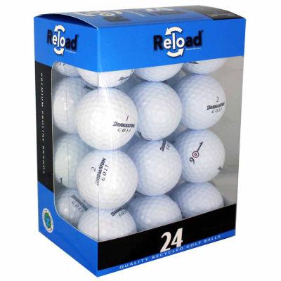 Reload 24 Pack of Bridgestone Recycled Golf Balls.