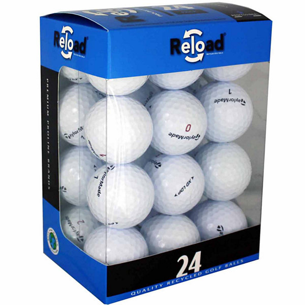 Reload 24 Pack of Taylormade Recycled Golf Balls.