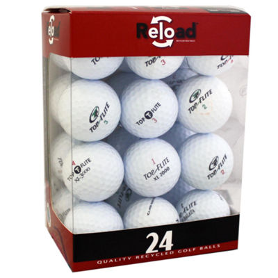 Reload 24 Pack TopFlite Recycled Golf Balls.