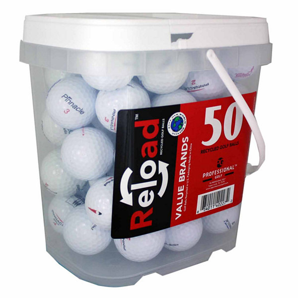 Reload 50 Ball Bucket of Pinnacle Mix Model Recycled Golf Balls.