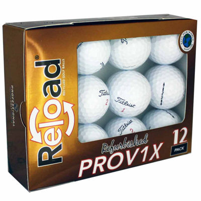 Reload 12 Pack Titleist PROV1X Refinished Golf Balls.