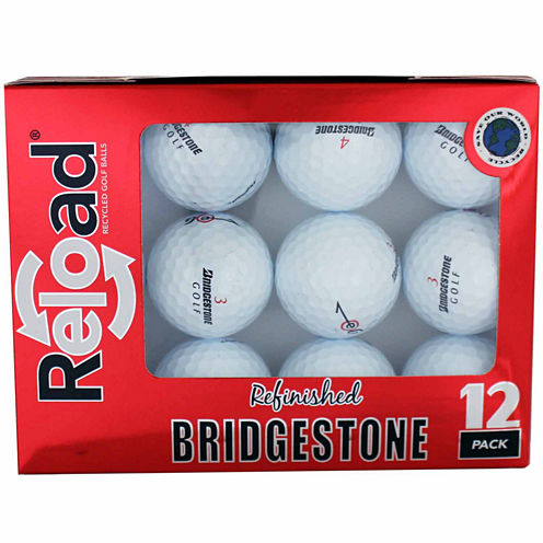 Reload 12 Pack Bridgestone E6 Refinished Golf Balls.