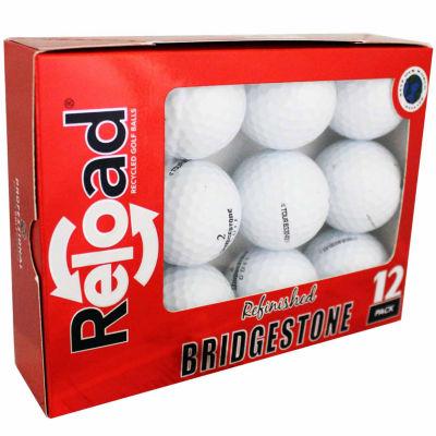 Reload 12 Pack Bridgestone B330-RX Refinished Golf Balls.