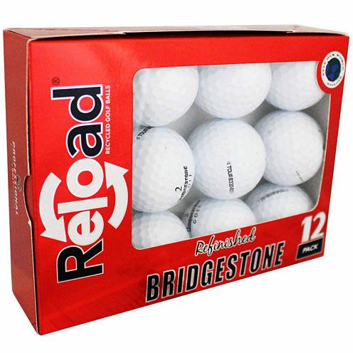 Reload 12 Pack Bridgestone B330-RXS Refinished Golf Balls.