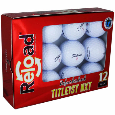Reload 12 Pack Titleist NXT Tour Refinished Golf Balls.