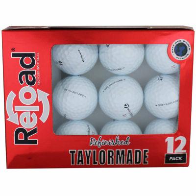 Reload 12 Pack Taylormade Rocketballz Urethane Refinished Golf Balls.