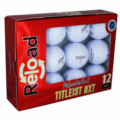 Reload 12 Pack Titleist NXT Refinished Golf Balls.