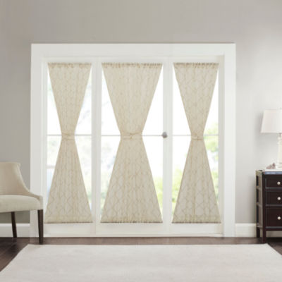 Iris Diamond Sheer Rod Pocket Door Panel