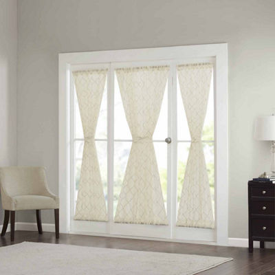 Madison Park Iris Diamond Sheer Rod-Pocket Door Panel