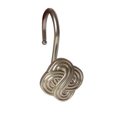 Elegant Gaelic Knot Shower Curtain Hooks