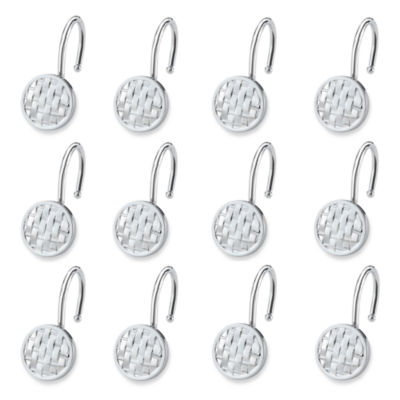 Elegant Woven Shower Curtain Hooks