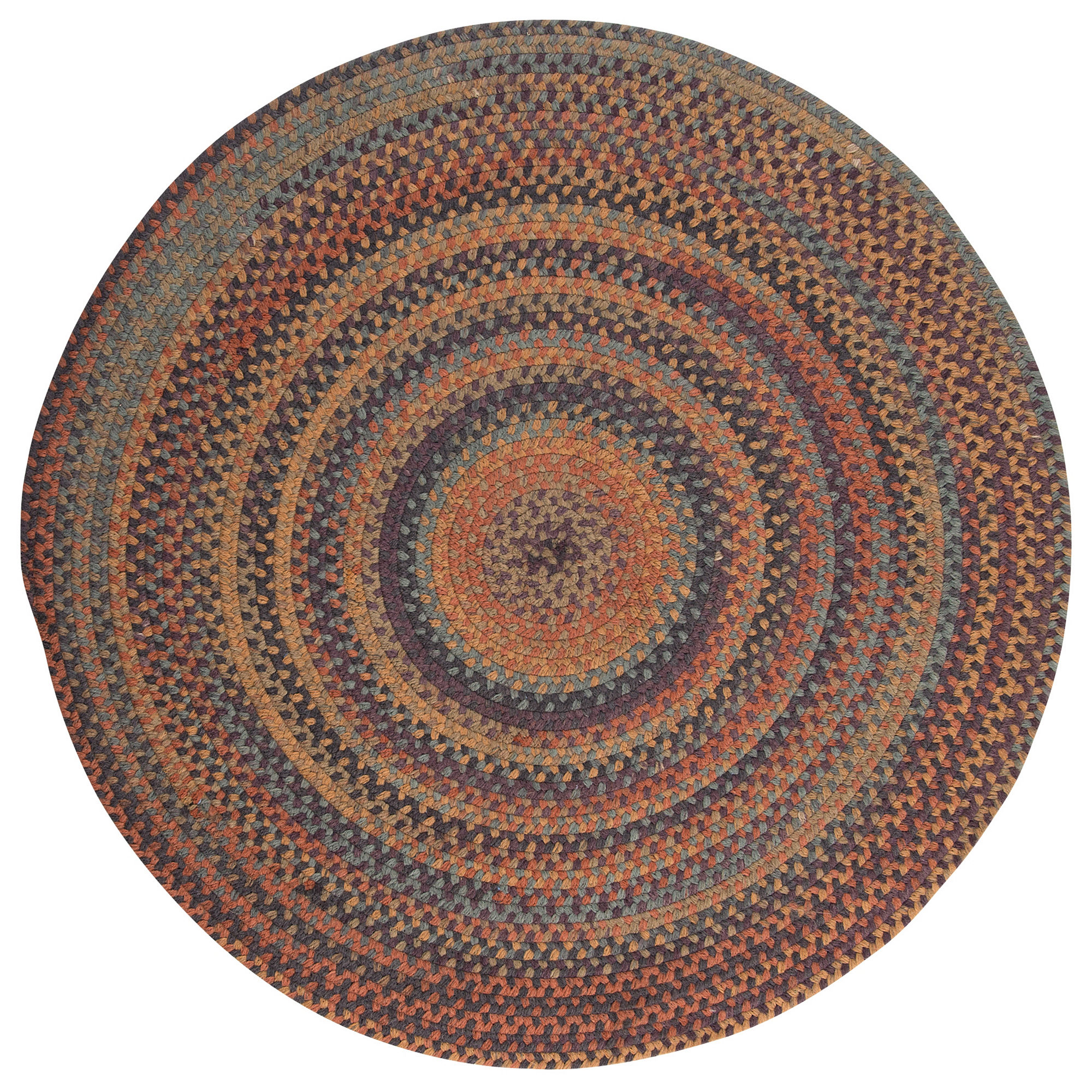 Colonial Mills Greenbrier Reversible Braided Wool Round Rug
