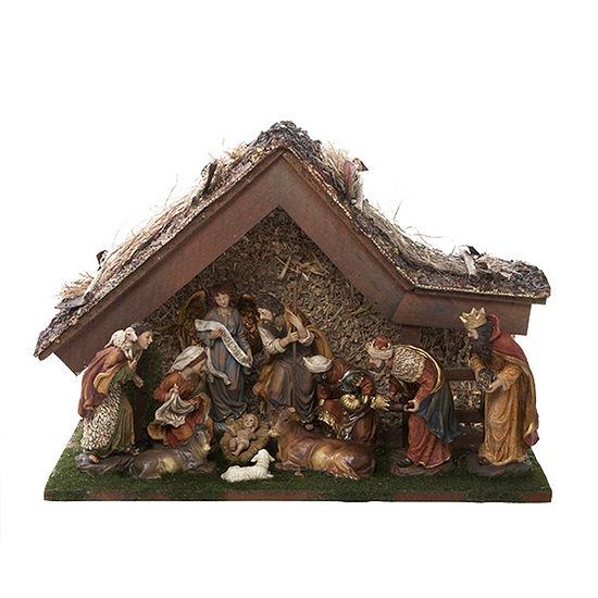 "Kurt Adler 12"" Nativity Set with Stable"