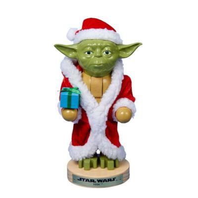 "Kurt Adler Star Wars™ 9"" Yoda In Santa Robe Nutcracker"