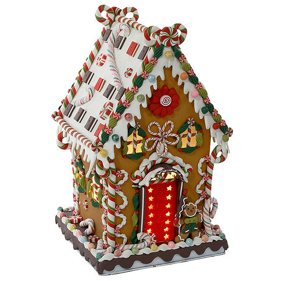Kurt Adler Cookie and Candy Ginerbread Lighted House