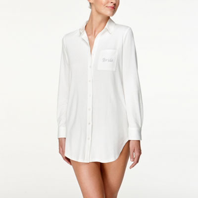 Flora By Flora Nikrooz Womens-Plus Nightshirt Long Sleeve