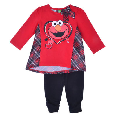 Elmo Sesame Street 2-pc. Pant Set Baby Girls