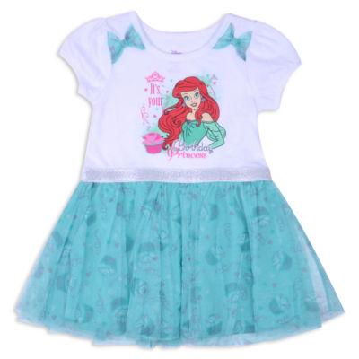 Disney Princess Ariel Short Sleeve The Little Mermaid Skater Dress - Toddler Girls