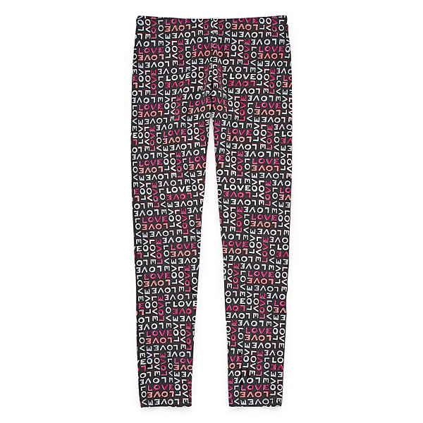 Total Girl Star Jersey Leggings - Big Kid Girls