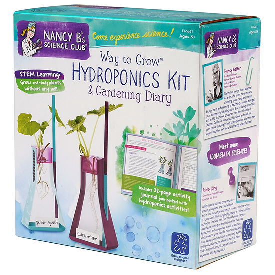 Educational Insights Nancy B's Science Club®  Wayto Grow™ Hydroponics Kit & Gardening Diary