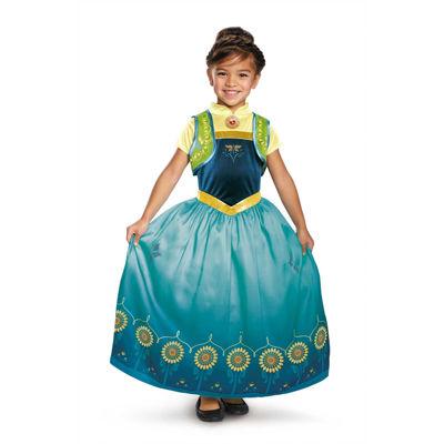Anna Frozen Fever Deluxe Toddler Girls Costume - (3T-4T)
