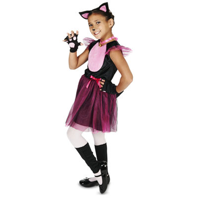 Black & Pink Cat Child Costume
