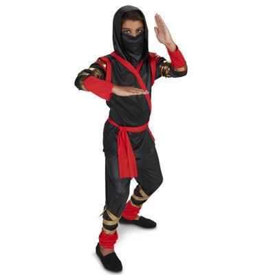 Black & Red Ninja Kids Costume