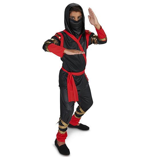 Black & Red Ninja Kids Costume Boys Costume