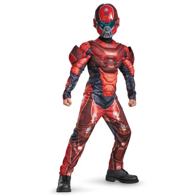 Halo Red Spartan Classic Muscle Child Costume