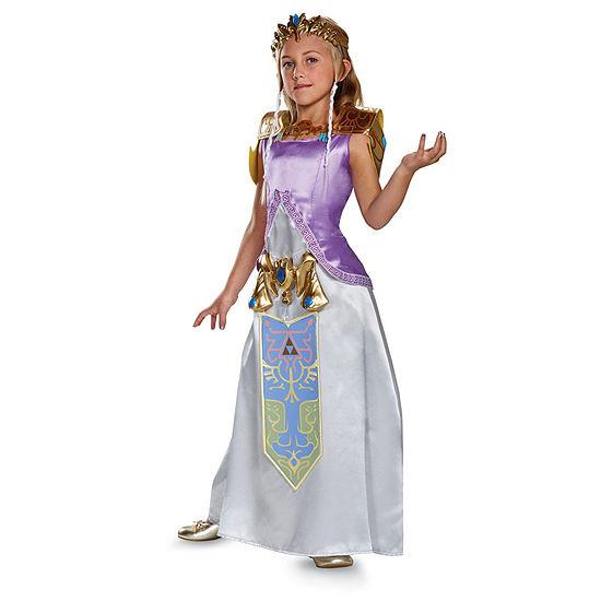 Legend Of Zelda Princess Zelda Deluxe Child Costume Girls Costume