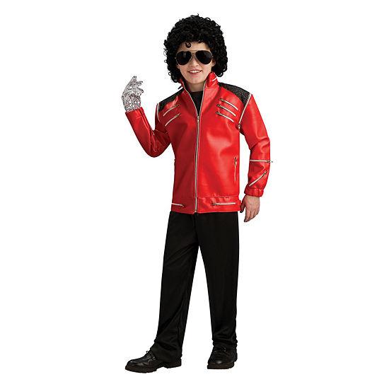 Michael Jackson Child Deluxe Red Zipper Jacket
