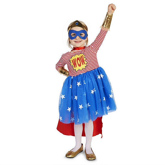 Pop Art Comic Superhero Girl Toddler Costume Girls Costume