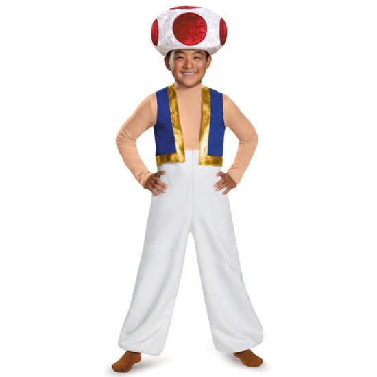 Super Mario Bros: Toad Deluxe Child Costume