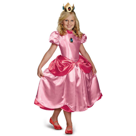 Super Mario Brothers Princess Peach Deluxe Child Costume