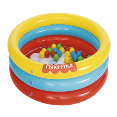 Bestway - Fisher-Price 36 Inch x 10 Inch 3 Ring Ball Pit Play Pool