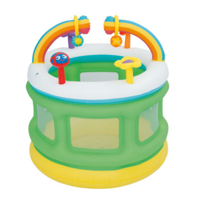 Bestway - Up, In and Over 43 Inch x 41 Inch Rainbow Go and Grow Play Center