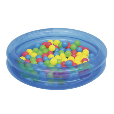 Bestway - Up, In and Over 36 Inch x 8 Inch 2-Ring Ball Pit Play Pool, Blue