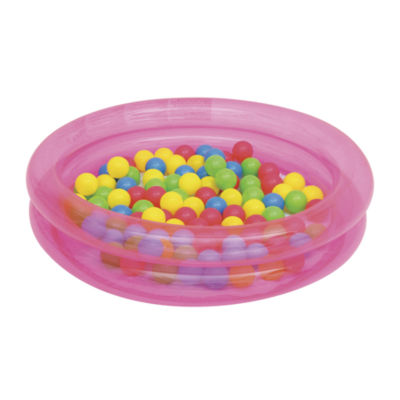 Bestway - Up, In and Over 36 Inch x 8 Inch 2-Ring Ball Pit Play Pool, Pink