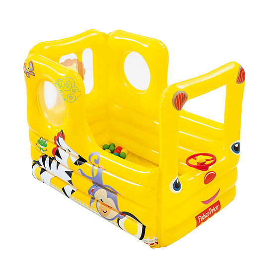 Bestway - Fisher-Price 54 Inches x 38 Inches x 38 Inches Lil' Learner School Bus with 20 Balls