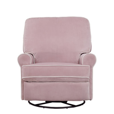 Birch Hill Swivel Glider Recliner In Stella Pink