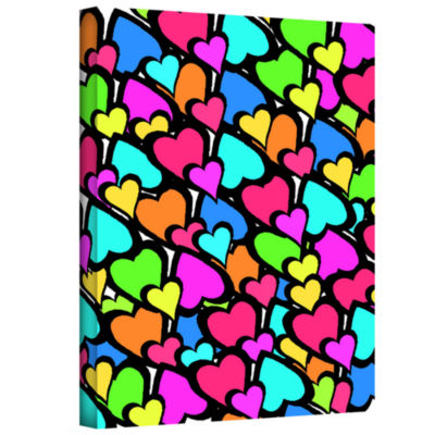 Brushstone Hearts Gallery Wrapped Canvas Wall Art